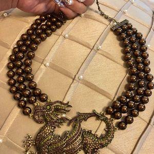 Heidi Daus multi-strand necklace.